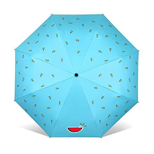 Paraguas Paraguas Plegable para Clima 8 Huesos Sombreado en Verano Blindaje térmico Ligero Duradero Lindo Sombrilla con Tapa