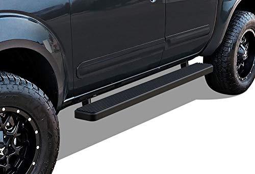 APS iBoard Running Boards 5in Matte Black Custom Fit 2005-2020 Frontier Crew Cab Pickup 4-Door (Nerf Bars Side Steps Side Bars)