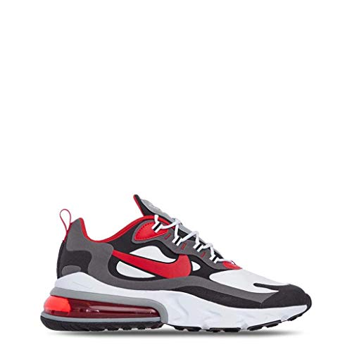 Nike Air Max 270 React, Basket Homme, Bianco Summit White Electric Green Vapste Grey Silver Lilac Thunder...