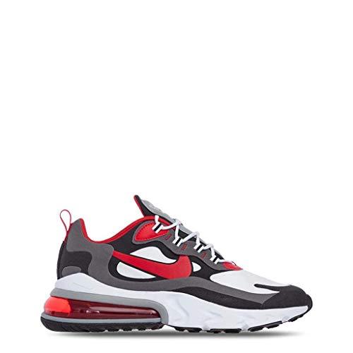 Nike Air MAX 270 React, Zapatillas de Gimnasio para Hombre, Bianco Summit White Electric Green Vapste Grey Silver Lilac Thunder Grey, 40.5 EU