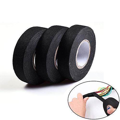 XTDGN 3 PCS Harness Wiring Friction Tape, schwarz Adhesive Stoffes -Harnessing Lärm - Geeignet für hitzebeständigen Motor Compartment- für industrielle Elektro