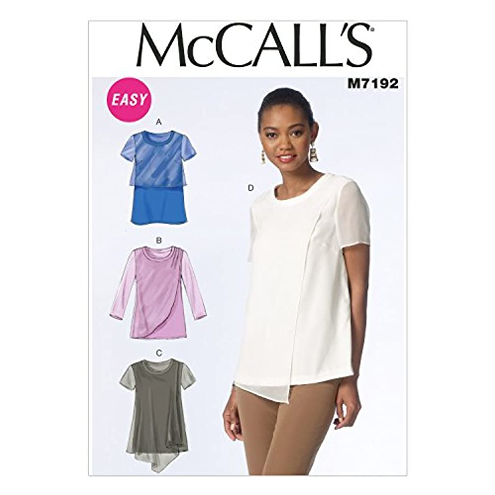 McCall's Patterns M7192 Misses' Tops Sewing Template, Y (XSM-SML-MED)