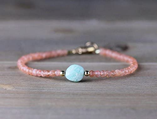 JP_Beads Delicate Sunstone Amazonite Silv Houston Mall Bracelet shop in Sterling