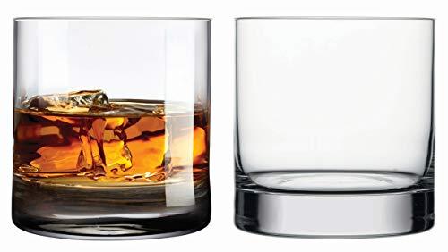 Topkapi elite 250.884 - Whisky Glas Castle Rock 35 cl (350 ml), bleifreies Kristall Glas, 2 Stück Schwerer Whisky Tumbler