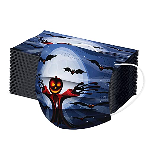 10/20/50/100 Pcs Halloween Adult Disposable Face Mask, 3 Ply Halloween Disposable Masks for Adult