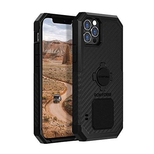 Rokform - iPhone 12 Pro Max Magnetic Case with Twist Lock, Military Grade Rugged iPhone Case Series (Black)