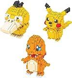 ZHZHUANG Bloques de Construcción Micro de Construcción de Niños Set Nano Micro Blocks Diy Juguete Regalo para Adultos Los Niños Incluyen Tres Modelos Pequeños Pato Pikachu Fuego Dragón
