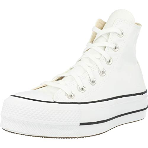 Converse Chuck Taylor CTAS Lift Hi, Zapatillas para Mujer, Blanco (White/Black/White 102),...