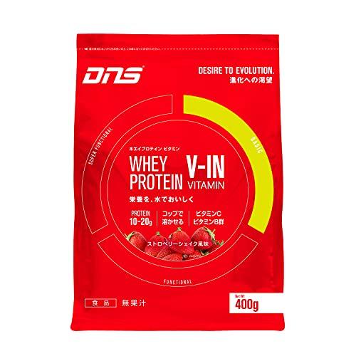DNS ホエイ プロテイン ビタミン ストロベリーシェイク風味 400g(約13回分) たんぱく質 筋トレ