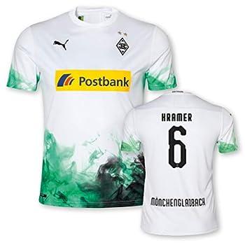 Puma BMG Borussia Mönchengladbach Maillot de gardien de but pour enfant 2019/20 8-9 ans 6 griffoirs.