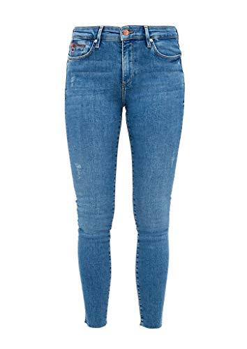 s.Oliver Damen Skinny Fit: Helle Stretchjeans dark blue stretche 40