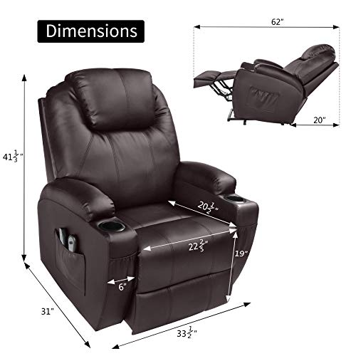 MAGIC UNION Power Lift Massage Recliner