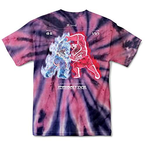 Primitive x Dragon Ball Super Men's Goku Vs Jiren Survival Washed Short Sleeve T Shirt Coral S