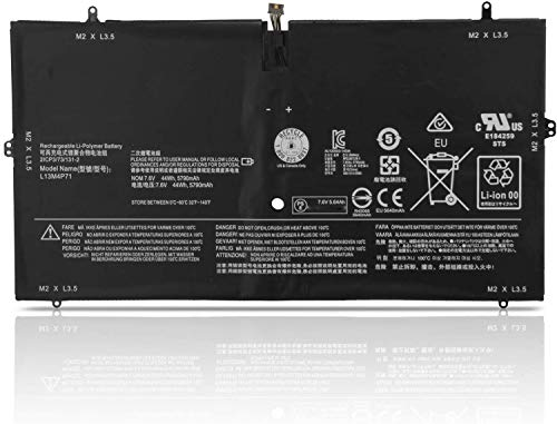 WYGUO L13M4P71 L14S4P71 Reemplazo de la batería del portátil para Lenovo Yoga 3 Pro 1370 Series Pro-1370-80HE Pro-5Y71 Pro-I5Y51 Pro-I5Y70 Pro-I5Y71(7.6V 44Wh)