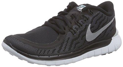 Nike Damen Free 5.0 Flash Laufschuhe, Schwarz Blk RFLCT Slvr Cl Gry Pr Pltnm 001, 37.5 EU