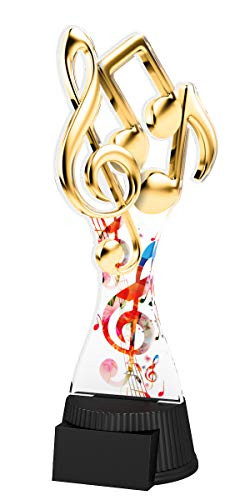 Trophy Monster Music Note - Placa grabada para niños, diseño de trofeos de Trofeo (190 mm)