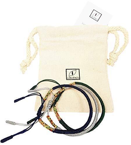 Buddhistisches Armband, Glückliches Tibetisches Armband, Glücksbringer Armband, Set mit 3 Glücklichen Tibetischen Armbändern (blau, grau, grün)+ Ebook angeboten