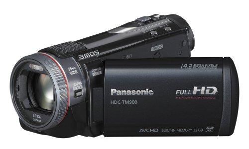 Panasonic HDC-TM900EGK Full HD Camcorder (32 GB int. Flashspeicher, 12-fach opt. Zoom, 8,8 cm (3,5 Zoll) Display, Bildstabilisator, 3D kompatibel) schwarz