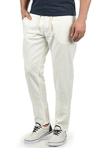 Blend Lian Herren Leinenhose Sommerhose Lange Stoffhose In Leinen-Optik aus Loose Fit, Größe:3XL, Farbe:Off White (70005)