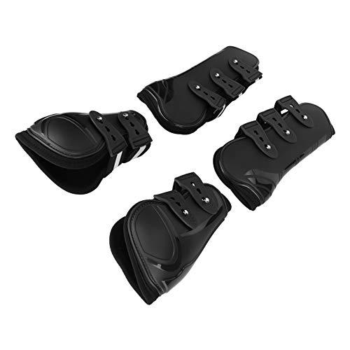 SALUTUYA Kit de Protectores de Patas de Caballo cómodo para Amortiguador de Patas de Caballo(Black Set, Medium)