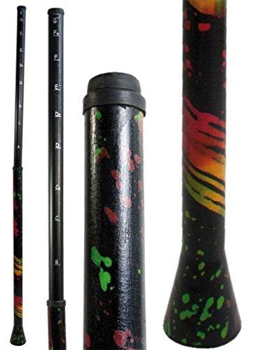 Slidedidgeridoo aus PVC stimmbar von B bis F Länge zusammengeschoben nur 97 cm bühnentauglich besonders Flexibilität Reise Travel