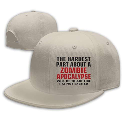 Gorras de béisbol unisex, la parte más dura sobre un zombi Flat Bill Rock Sombrero ajustable Snapback