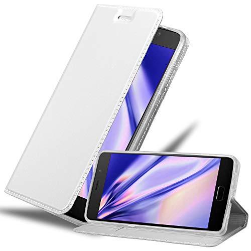 Cadorabo Hülle für Lenovo P2 in Classy Silber - Handyhülle mit Magnetverschluss, Standfunktion & Kartenfach - Hülle Cover Schutzhülle Etui Tasche Book Klapp Style