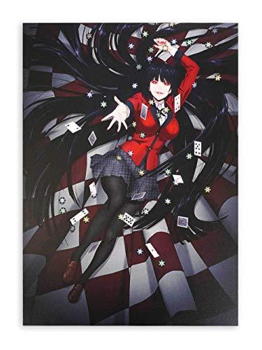 CoolChange Hochwertiges Kakegurui Wandbild auf Hartschaumplatte | Poster 30x42cm | Motiv: Yumeko A