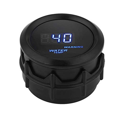 Qiilu 2 Zoll 52mm Digital Wassertemperatur Fahrenheit Gauge Kit mit Temp Sensor