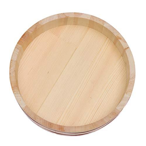 DOITOOL Vasca per Mescolare Il Riso in Legno per Sushi Oke con Coperchio (Burlywood)