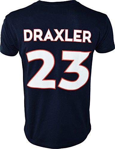 Paris Saint-Germain Herren-T-Shirt, Julian Draxler, offizielle Kollektion, Erwachsenengröße, für Herren S blau