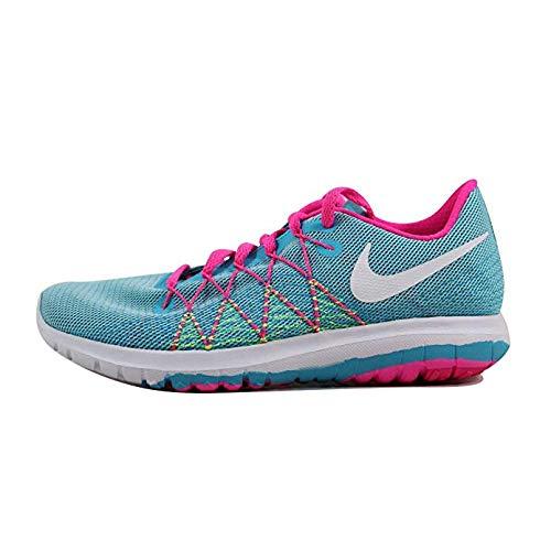 Nike Girl's Flex Fury 2 Running Shoes (6.5 Big Kid M, Gamma Blue/White/Ghost Green/Pink Blast)