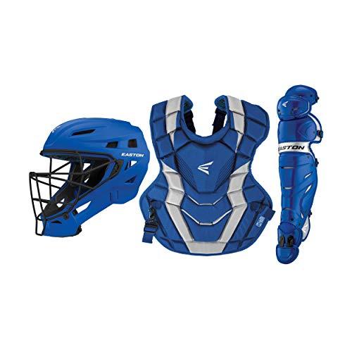 Easton Elite X Baseball Catchers Equipment Box Set, Youth, Royal