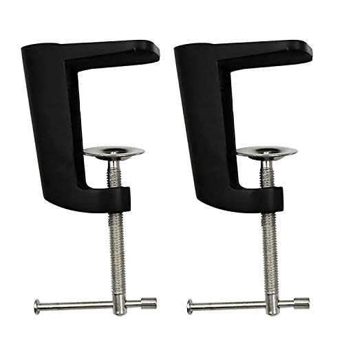 POFET 2 pz regolabile 0-56mm/0-59mm braccio morsetto scrivania lampada da tavolo supporto in metallo - 2 colori possono scegliere - nero, 90mm