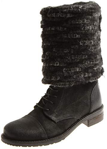Timezone Damen Luba AS ribox/Winter Wool Stiefel, Schwarz/Black, 40 EU
