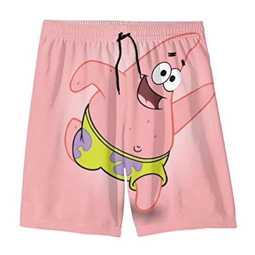 NHCY Strandhose Patrick Star Teenager Shorts Boy and Girl Swimming Shorts Mesh Lined Beach Pants-