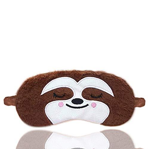 Dodheah Tier-Augenmaske, Schlafmaske, 3D-Cartoon-Augenschutz, Augenbinde, für Reisen, zum Schlafen, verstellbar, für Kinder, Mädchen und Damen Gr. One size, S-braun