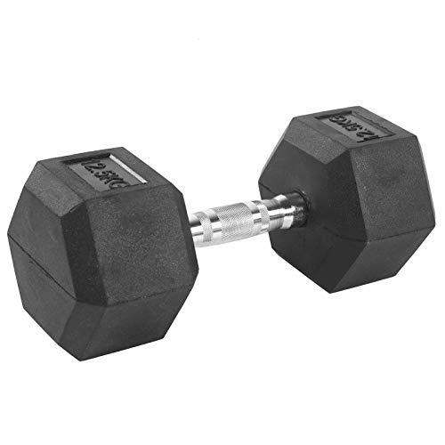 Cocoarm 12.5 kg Hexagon-Hanteln Kurzhantel Einzeln/Set Hex Hantel Dumbbell rutschfest Fitness Hantelset Workout Gewichte für Krafttraining Gymnastik