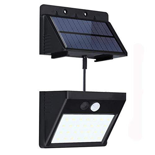 Luces solares Detector de movimiento 28LED Luces de seguridad 3 modos inteligentes Panel solar separable activable para jardín, escaleras, paredes exteriores, etc. (1 Pack)