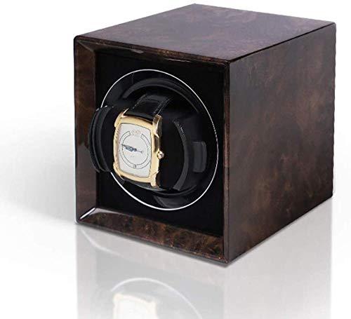 YAYY High-End-Uhrenbeweger-Box zum Aufziehen von mechanischen High-End-Uhren Display Storage Collection 6 Geschwindigkeiten Laden Walnuss-Dendrit Upgrade