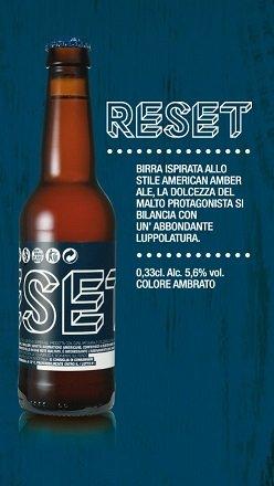 BIRRIFICIO RURALE - RESET Cerveza artesanal italiana (33 cl) - Confezione da 6 Bott.