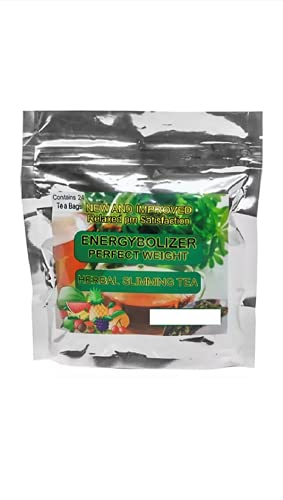 Energybolizer Perfect Weight Herbal Slimming Tea (24 Bags)   Natural Weight Loss and Metabolism Booster for Women and Men   Herbal Detox and Colon Cleanser for Better Digestive Health MANGO TANGERINE FLAVOR