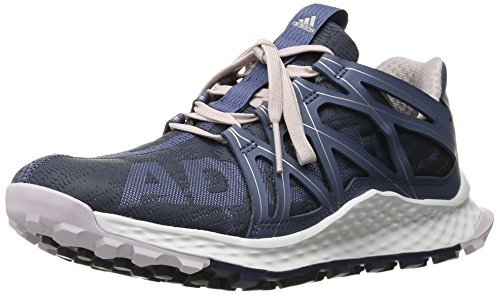adidas Women's Vigor Bounce w Running Shoe, F16/Utility Blue F16/Ice Purple F16, 6 M US
