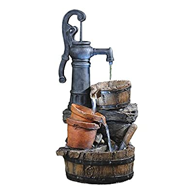 Jeco Classic Water Pump Fountain with Led Light