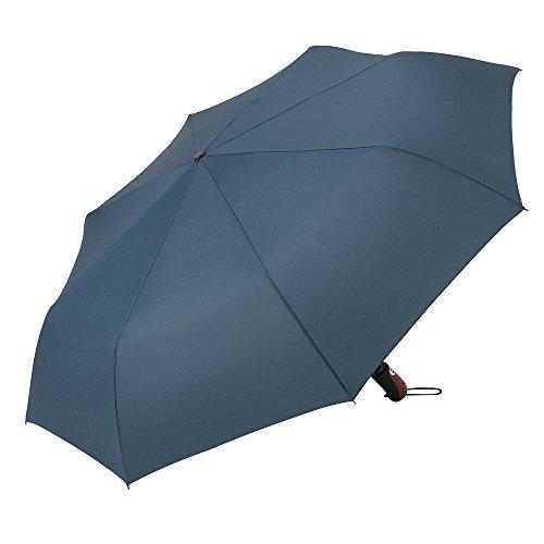PLEMO Ombrello Blu Scuro Automatico Viaggio Pieghevole 44,5'' Solid Inscalfibile, UA_22