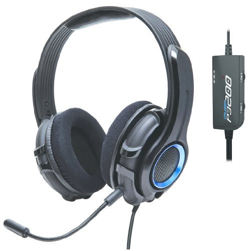 GamesterGear Cruiser P3200 Stereo Gaming Headset with Detachable Boom Microphone for PS3 PS4 Console and PC