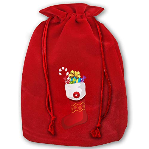 IUBBKI Bags, Christmas Stockings Gold Velvet Santa Sack for Xmas Party Favors, Grocery/Wrapping Storage Bags for Kids