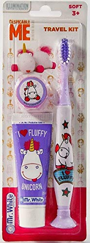 Mr White Jr - Kit viaje unicornio Fluffy mi villano