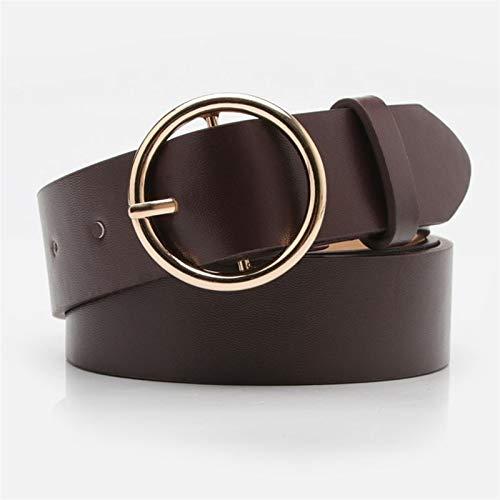ZZYLHS Belt Alloy Double Ring Circle Buckle Girl Jeans Dress Wild Belts Decoration (Belt Length : 105CM, Color : 7)