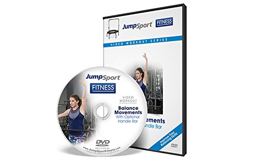 JumpSport Fitness Trampolin Workout DVD | Balanced Focused | Lenker Option erhältlich, Sport & Fitness, weiß, 5x5x.1